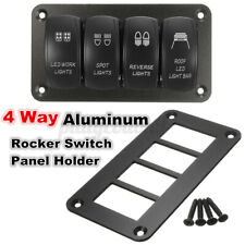 1pcs Car Boat 4 Way Aluminum Rocker Switch Panel Hosing Holder Fior ARB US ,.