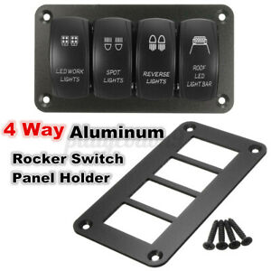 1pcs Car Boat 4 Way Aluminum Rocker Switch Panel Hosing Holder Fior ARB US ,.