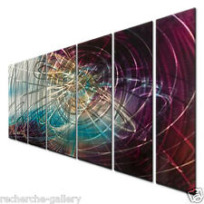 Abstract Painting on Metal Wall Sculpture Art by Ash Carl Modern Home Décor