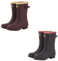 Womens Rubber Wellington Boots Buckle Wellies Welly Rain Snow Ladies UK Size 4-8