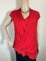 Vince Camuto Red Sleeveless Top Size Medium
