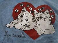Louisville Kentucky Kittens Cats in Love Woman's T-Shirt RARE & Size XL