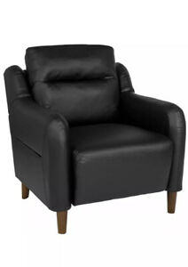 Flash Furniture-Newton Hill Upholstered Bustle Back Arm Chair in  Leather Soft