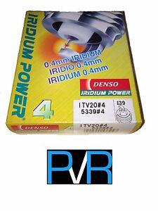 4x DENSO Iridium Power High Performance Spark Plug ITV20