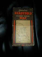 Vintage Johnstons Readyfold Coloured Touring Map  Linen-Back Section 11