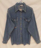 DIESEL vtg blue denim jean chore Shirt Sz MEDIUM