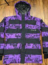 Grenade Fatigue Project Snowboard Ski Jacket Women Medium Hood Purple Comic Camo