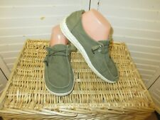 Hey Dude Women's Wendy Chambray Green  White Shoes Slip On Casual Casual size 7