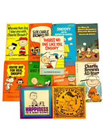 Lot of 11 CHARLIE BROWN Books~Charles M. Schulz~Snoopy/Peanuts~PB~'60-'73