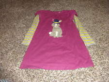 MINI BODEN 3-4 3T 4T PURPLE BUNNY DRESS L/S STRIPED