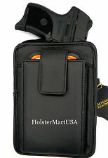 Black Leather Concealment Gun Pistol Holster Waist Pack - RUGER LC9, LC9S