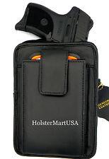 Black Leather Concealment Gun Pistol Holster Waist Pack - BERSA THUNDER 380