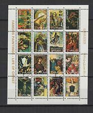 tableaux du Christ Ajman State  une feuille 16 petits timbres oblitérés/ T1460