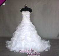 ♥LUXUS Brautkleid, Hochzeitkleid in Weiß+Größe 42 + Neu W084♥