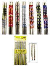 5 Pairs (10 Pieces) Chinese / Korean / Japanese  Stainless Steel Chopsticks JW