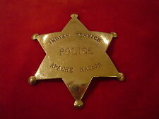 Badge: Indian Police Services, Apache Nation, Native American, Lawman, Old West