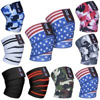 DEFY Weight Lifting Knee Wraps Training Fist Straps Power Lifter Gym Support 78""