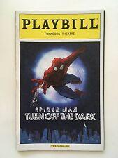 Spider-Man Turn Off The Dark Playbill Broadway - March 2011