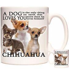 Chihuahua mug, Dishwasher safe. Matching Coaster Available. Can Be Personalised