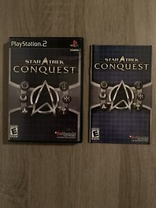 Star Trek: Conquest (Sony PlayStation 2, 2007) Complete In Box