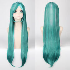 vocaloid Hatsune Miku knife braid Green Mixed Cosplay Anime party Hair Wig Z163