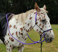 Earthhorse Equipment Bitless bridle/riding halter adjustable sidepull,pony/cob/f