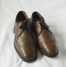 "Vintage Allen Edmonds Sharkskin ""Nassau""  Wingtip Derby Brogue Shoes sz 9B"
