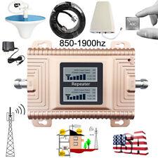 CDMA PCS 850-1900 MHz Dual Band Cell Phone Signal Booster 2G 3G 4G Antenna Kits