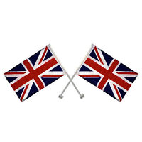2 x Union Jack United Kingdom Great Britain Window Car Flag