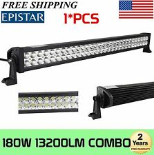 32inch 180W Spot Flood Combo LED Work Light Bar Offroad Lamp 4WD SUV Boat Sales