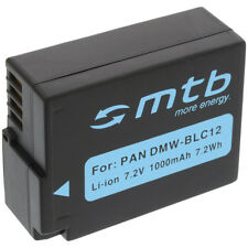 Batterie Dmw-blc12 pour Panasonic Lumix Dmc-gh2 / Dmw-blc12e Dmw-blc12pp