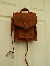 ladies tan leather handbag satchel style