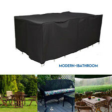 6/8/10 Seater Waterproof Patio Furniture Set Cover Garden Table Chair  Protective