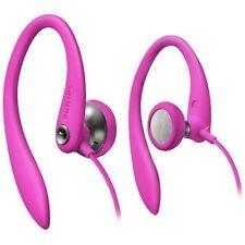 Philips SHS3200PK/37 Flexible Earhook Headphones, Pink, New,