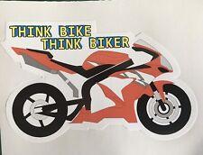 HONDA THINK BIKE BIKER MOTORBIKE CAR WINDOW BOOT STICKER TRACK RACE CBR SPORT