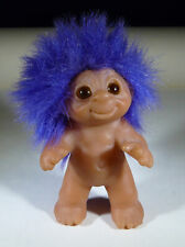 Norfin Troll Dam Vintage 1985 PURPLE HAIR Amber eyes Rare