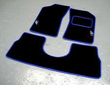 Noir/Bleu Tapis de voiture pour s'adapter PEUGEOT 205 + Talbot Sport Logos (x2) + selle arrière