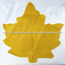 75% OFF! NOBLE EXCELLENCE YELLOW CORD LEAF PLACEMAT US$ 8+ BNEW W/ STICKER LABEL