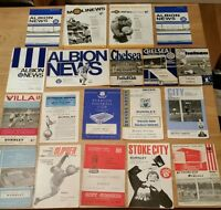 19 Different 1960s Burnley Away Programmes – Bulk 16