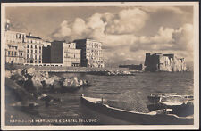 Italy Postcard - Napoli - Via Partenope e Castel Dell-Ovo  MB1496