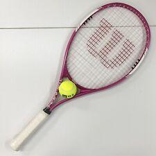 "NEW Wilson Triumph Tennis Racquet Pink Series 1 Grip size 4 1/4"" 112 in² Head"