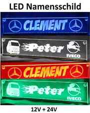LED LKW Namensschild Truckerschild 12/24V DAF SCANIA MAN VOLVO MERCEDES ACTROS