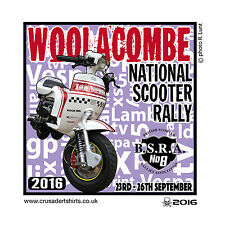WOOLACOMBE 2016 SCOOTER RALLY RUN  PATCH MODS SKINHEADS SCOOTERIST SCOOTER BOYS
