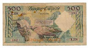 ALGERIA banknote 500 Francs 1958