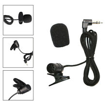 Portable 3.5mm Mini Headset Microphone Lapel Lavalier Clip Microphone Black NM