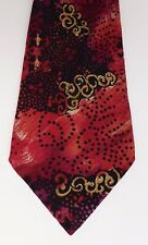 Prochownick tie pure silk Italian made stunning multi-coloured pattern kipper