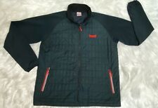 Marker Men's Jacket Quilted Lightweight Packable Fabric Arms Zip Up Size Large