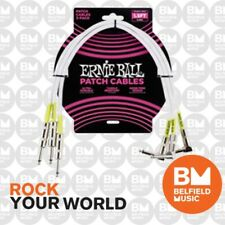 Ernie Ball 6056 3 x 1.5ft (45cm) Patch Cable Lead Straight/Angle White