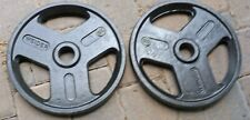 PAIR Weider 35 Pound Olympic Weight Plates - Iron