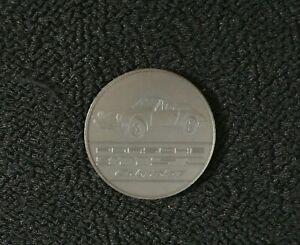 1983 PORSCHE 911 SC Cabriolet Sports Car Christophorus Calendar Coin Medal